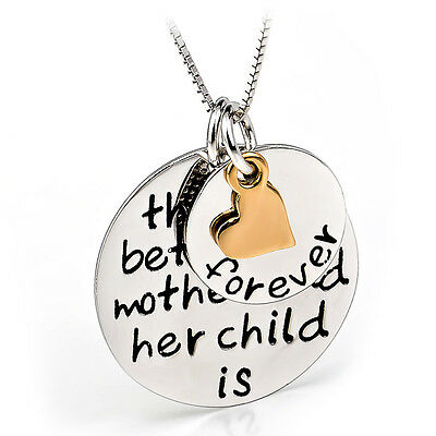 Mother&Child Love Forever Sterling Silver Pendant Necklaces Mom's Birthday Gifts