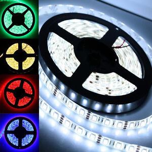 5M-5050-SMD-RGB-Striscia-Flessibile-Luce-Led-Multicolore-12V-300-Led-Lampadina