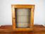 """縮圖 1 - Antique Pine Wooden Ships Key Box Cabinet Glass Front 36 Keys """"Edinburgh Castle"""""""