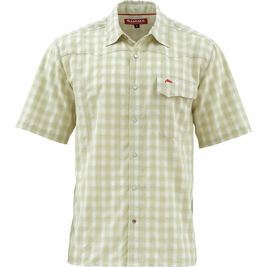 Simms  gree cielo Short Sleeve Shirt Sagebrush Plaid  Diuominiione XL  Closeout