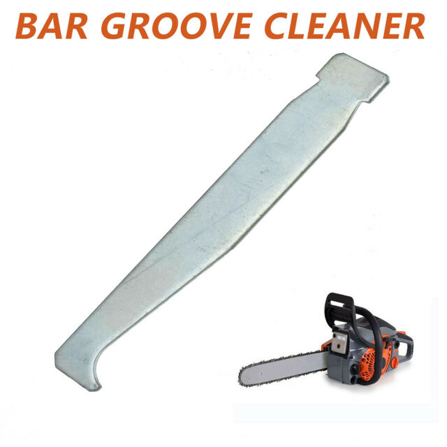 4*Guide Bar Rail Groove Cleaner Cleaning Tool Set For Chainsaw Chain Saw
