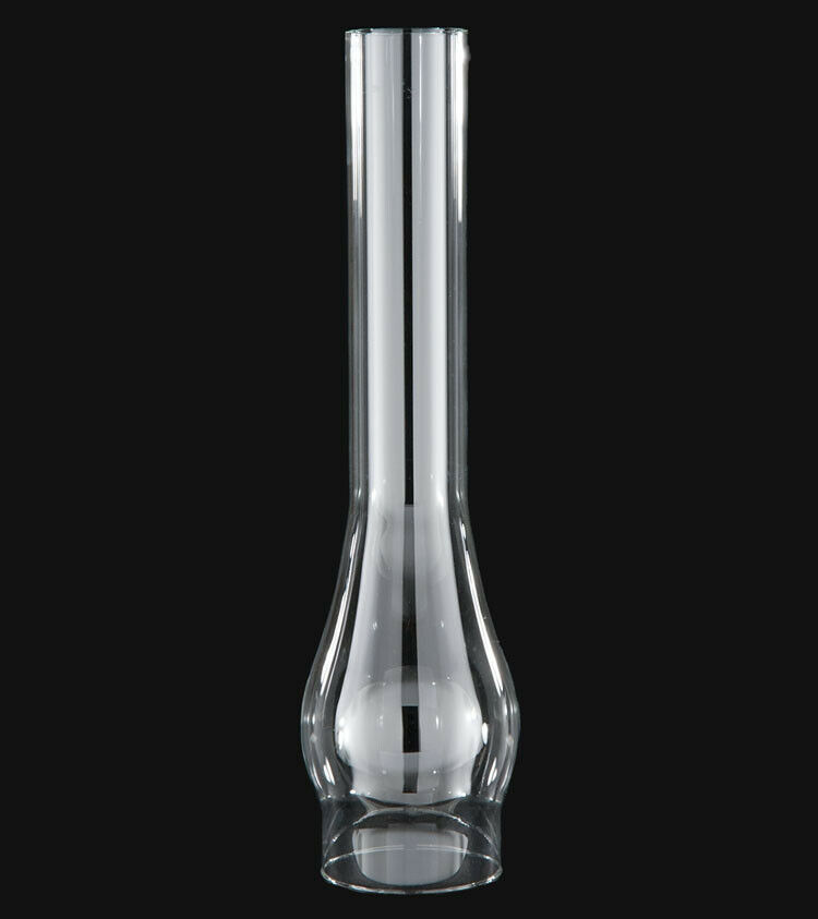 """3/"""" X 8 1//2/"""" CLEAR GLASS HURRICANE OIL LAMP CHIMNEY FOR #2 BURNER NEW 57932JB"""