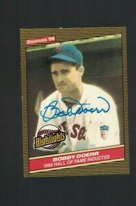 Bobby Doerr Boston Red Sox Signed 1986 Donruss Baseball Card W/Our COA