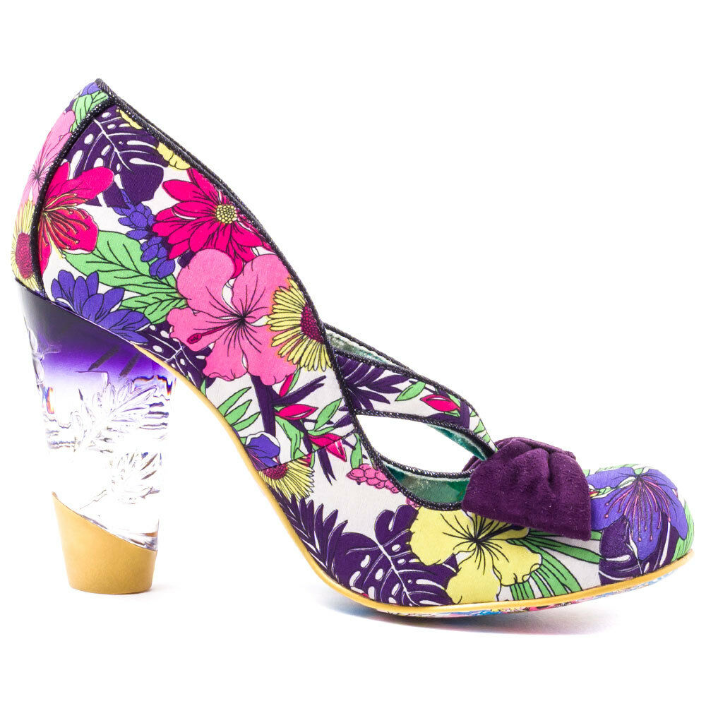 Irregular Choice Hello Ha purple Floral Größe 36