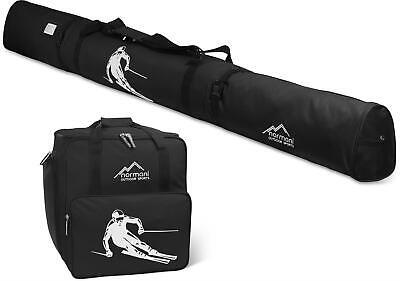 skiset skischuhtasche helmfach und skitasche mit adressfeld kombi set skiurlaub ebay. Black Bedroom Furniture Sets. Home Design Ideas