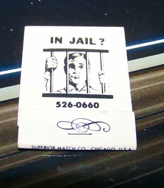 Rare Vintage Matchbook In Jail Freedom Door Bail Bonds