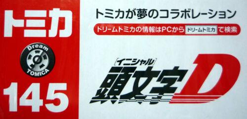 Takara Tomy Dream Tomica No.145 Initial D AE86 Trueno Takumi Fujiwara