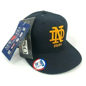 Vintage-Nwt-University-Of-Notre-Dame-Combattimento-Irlandese-New-Era-Fitted-Hat
