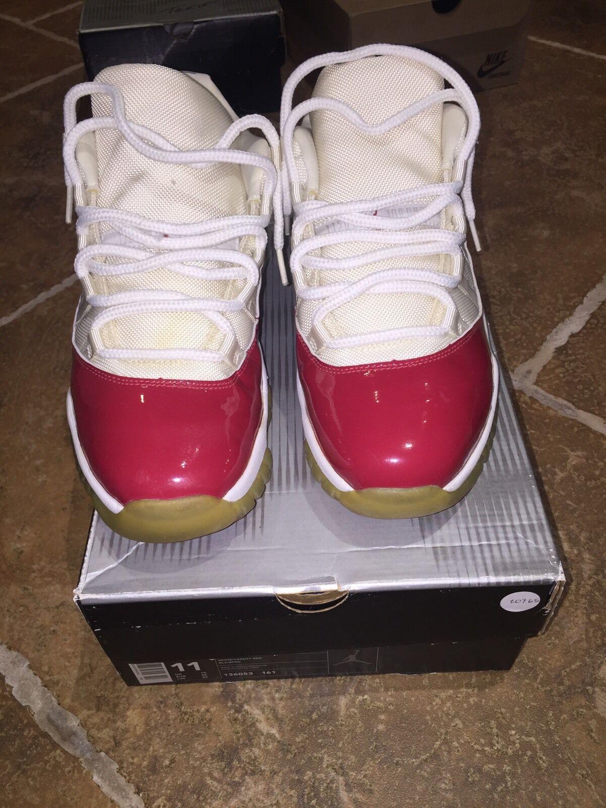 2018 Air Jordan 11 Low White Red Size 11