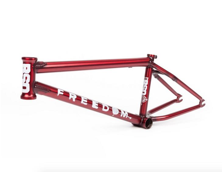 BSD gratuitoDOM 21.5 FLAT TRANS rosso KRISS KYLE SIG BMX BIKE FRAME 21.5 BIKES