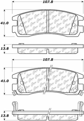 BRAND NEW POWER STOP REAR BRAKE PADS 16-698 D698 FITS VEHICLES LISTED ON CHART