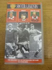 circa 1990 Manchester United: Soccer Legends Video [VHS] - Law, Best & Charlton,