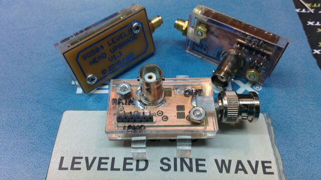Improved Calibrated Leveling Head for Tektronix SG504 GHz Leveled Sig Generator