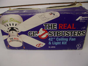 Vintage-1980s-The-Real-Ghostbusters-42-034-Ceiling-Fan-amp-Light-Kit-Amercep