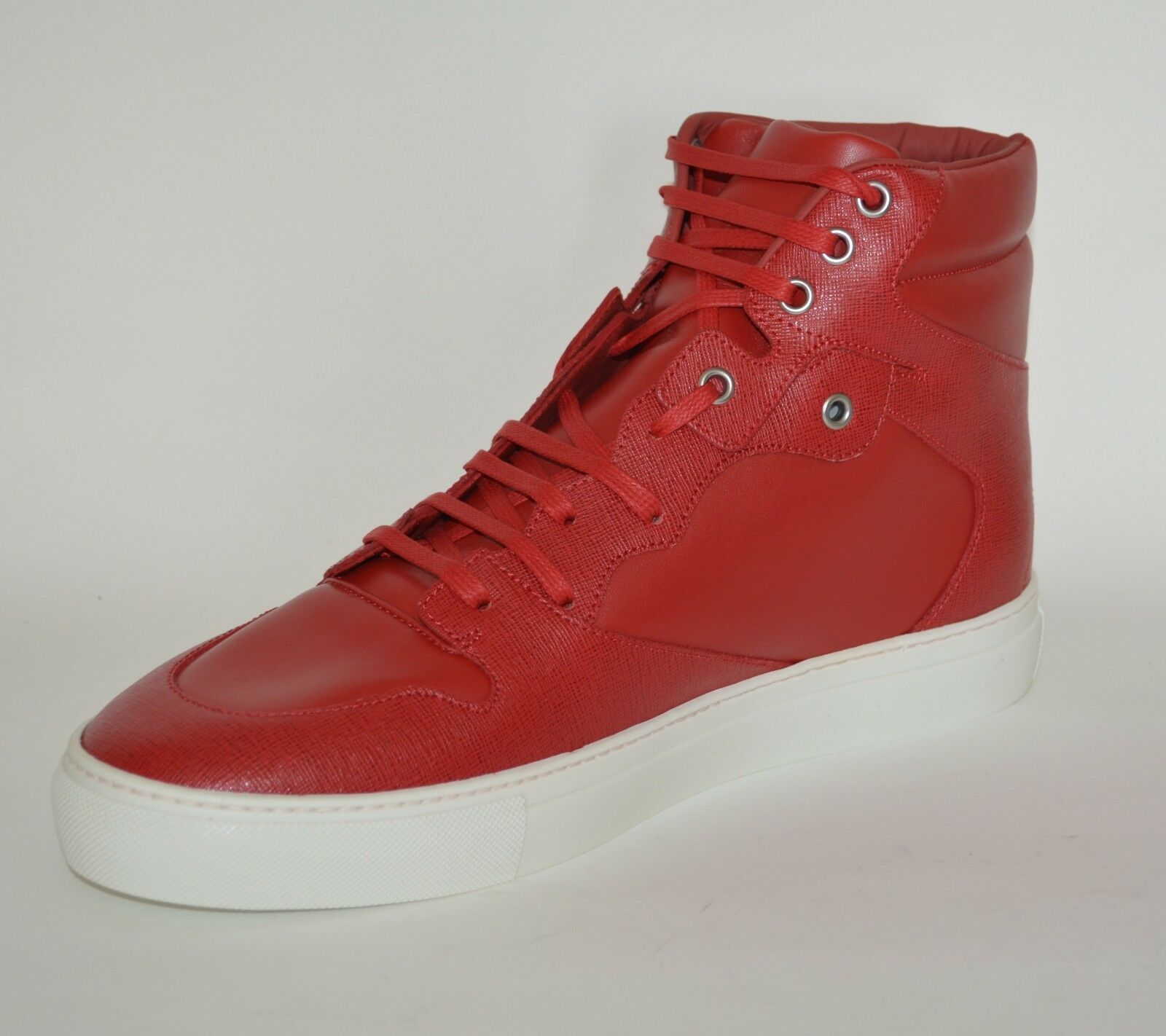 BALENCIAGA HITOP LEATHER SNEAKERS US 6 NEW MENS  RED