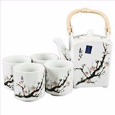 Japanese Cherry Blossom Tree Tea Set (1 pot & 4 cups)