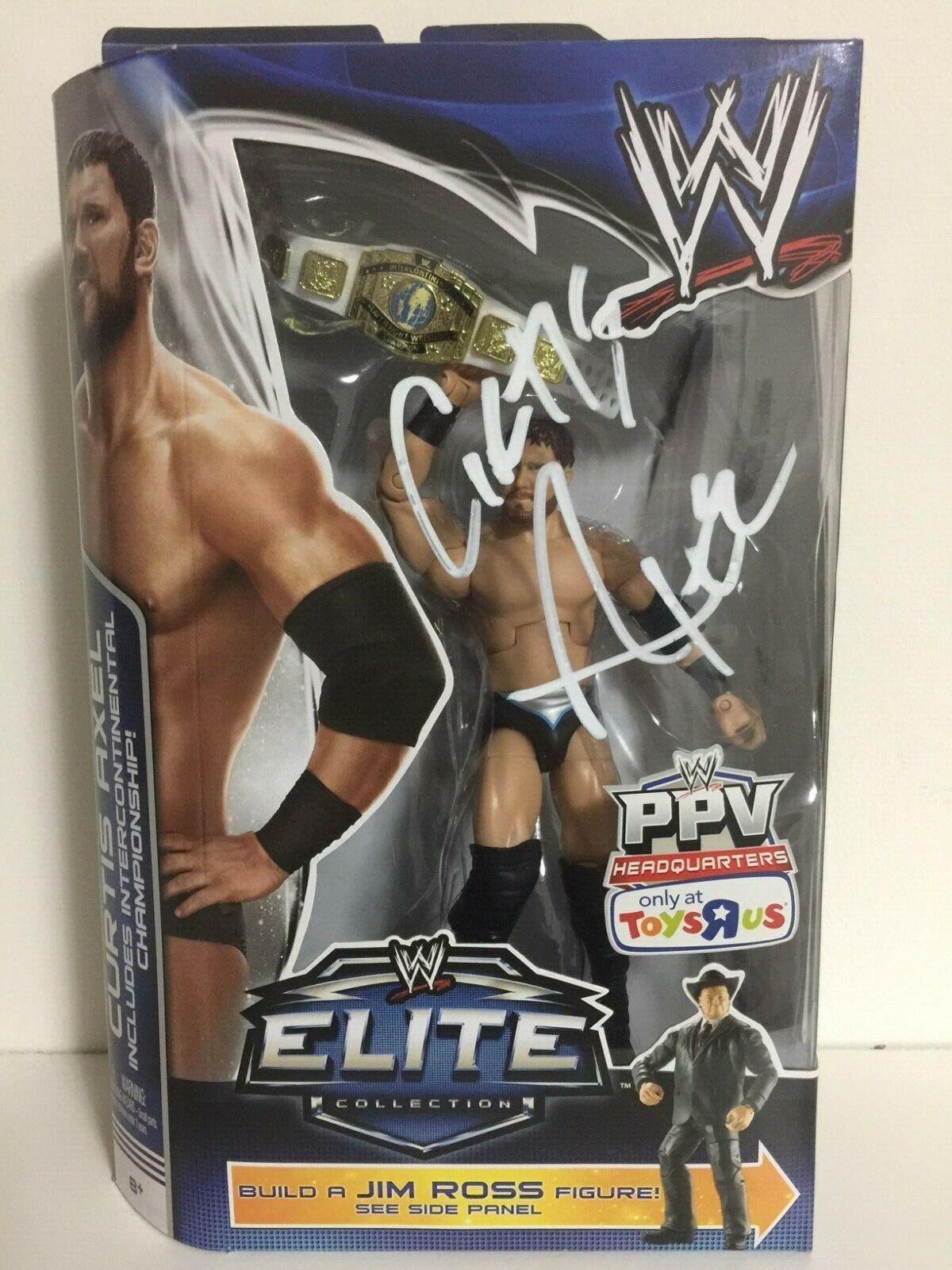 WWE Mattel Elite signé  Curtis Axel Tru BEST OF PPV BAF Jim Ross Action Figure  le plus en vogue