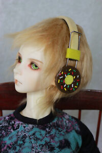 BJD-Doll-Dollfie-Soundplay-1-3-Scale-SD-Headphones-Donut-Chocolate-Toy-New-Prop
