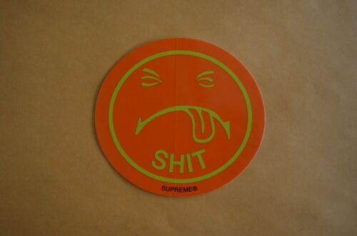 SUPREME Sh*t Sticker Black Orange box logo camp cap tnf