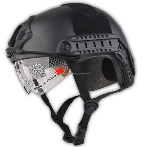 Emerson MH Helmet+NVG Shroud Tactical Airsoft  Hunting Adjustable Predection BK  new branded