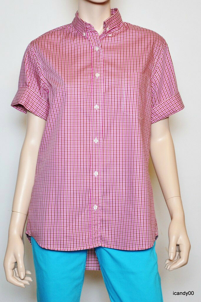 Nwt  190 Theory ARRIAN Franklin St. Paid Shirt Top Blouse Rubellite  Weiß M