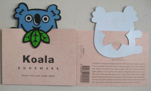DIECUT BOOKMARK AUST MADE COMIC PVC KOALA KANGA POSSUM PLATYPUS FROG BIRDS