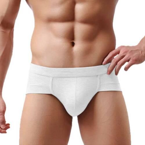 Mens Classic Sports Solid Slips Briefs Adults Soft Slip Underwear Underpants UK