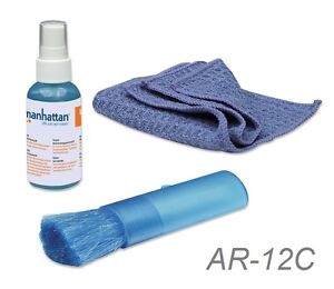 Details about LCD Cleaning Kit with Alcohol Free Spray, Brush and  Microfiber Brush, AR-12C