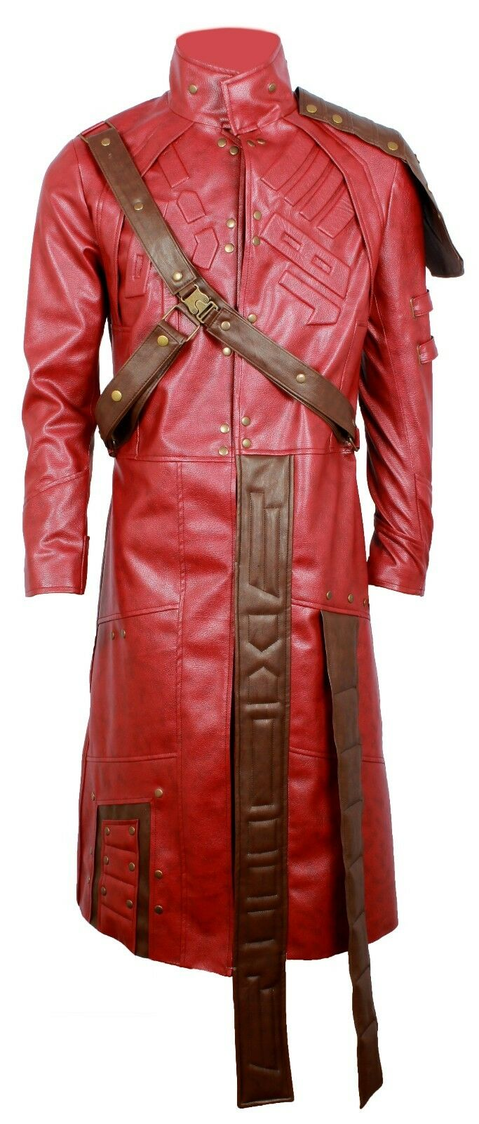 STAR LORD CHRIS PETER GUARDIAN OF THE GALAXY SYNTHETIC leder TRENCH LONG COAT