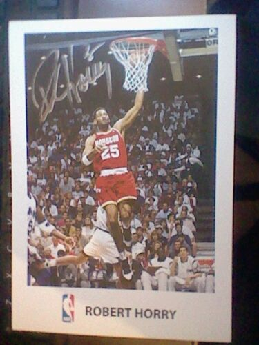 ROBERT HORRY HAND SIGNED CARD