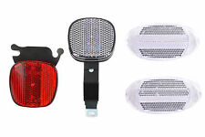 HERRMAN FULL BIKE REFLECTOR SET FRONT, REAR, BRACKETS ,WHEEL REFLECTORS SAFETY
