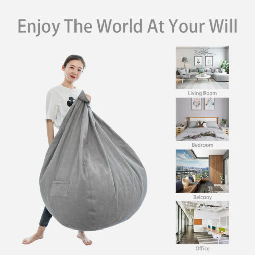 Large Bean Bag Chair Sofa Seat Cover Indoor Gaming For Adult Kids No