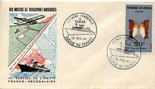 LES MOYENS DE TRANSPORTS  ESCALE DU PAQUEBOT FRANCE A DAKAR / OISEAU 1964