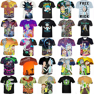 Summer Womens/mens RICK AND MORTY 3D print Short Sleeve Casual T-Shirts S-5XL