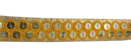 Wedding-Dress-Mirror-Work-sari-Border-Embroider-9YD-Indian-Trim-Sewing Lace L135