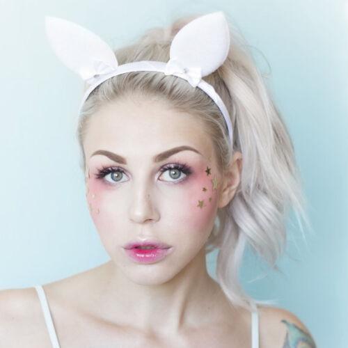 Cute White Bunny Ears Headband
