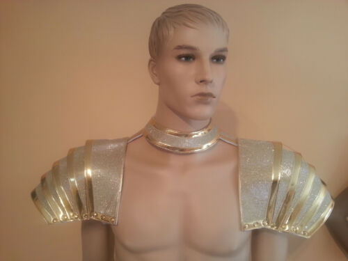 SAMBA GLADIATOR Costume Apron Guys  OUTFIT 4 Colors NEW Shoulder Pads Men