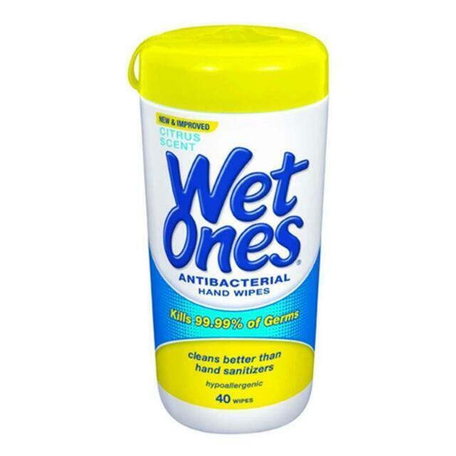 Wet Ones Citrus Scent Antibacterial Hand Wipes - Pack of 40