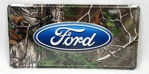 Ford Realtree Camo License Plate Car Truck Tag Explorer Escort F-150 Mustang