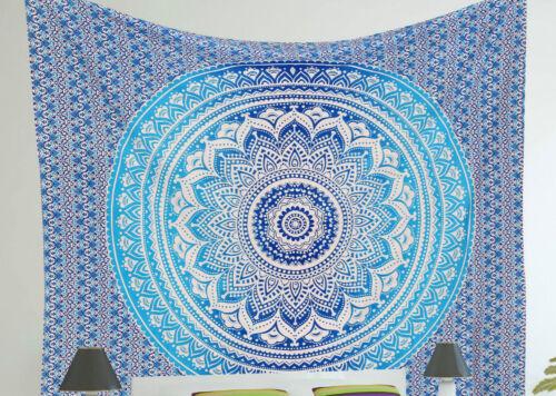 Indian Mandala Wall Hanging Bohemian Tapestry Twin Decor Throw Hippie Bedspread