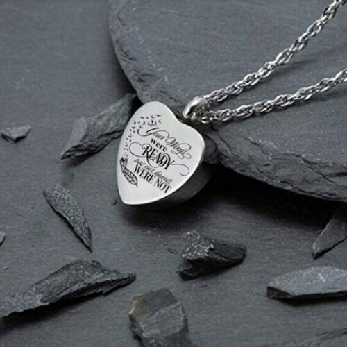 Heart Urn Necklace for Ashes Cremation Jewelry Keepsake Memorial Pendant TLRUH