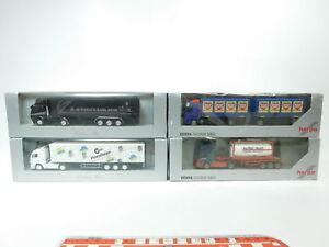 Bh54-1-4x-Herpa-h0-1-87-camion-MB-TALKE-boda-fideos-russ-pneuhage-Neuw-embalaje-original