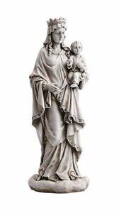 18-034-Mary-Queen-of-Heaven-with-Child-Jesus-Garden-Statue
