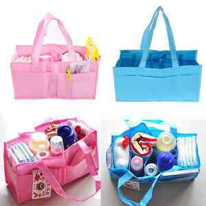 Practical Mother Handbag Baby Diaper Nappy Bag Milk Bottle Storage Organizer ZY