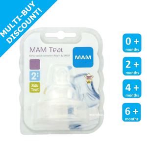 MAM-Teats-Size-2-3-4-Fast-Med-Slow-X-Flow-for-Mam-Bottles-Teat-Pack-of-2