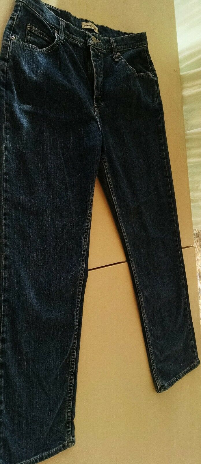Riders Relaxed Jeans Ladies Size 12M bluee Denim Waist 32  Inseam 29  Rise 11
