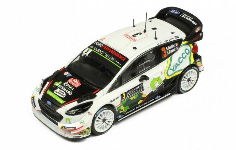 Ford Fiesta  WRC n°3 8ème Rallye Monte Carlo - 2018 - Bouffier - RAM666 1 43 Ixo