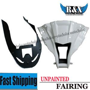 Unpainted-Front-Upper-Cowl-Nose-Fairing-Set-For-Kawasaki-Ninja-ZX10R-2011-2013