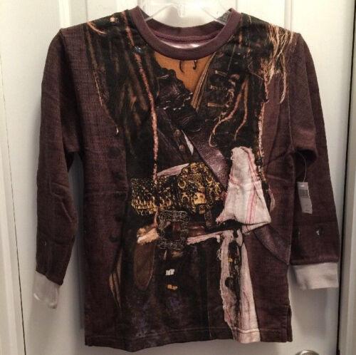 Jack Sparrow Pirate Shirt Long Sleeve XS-S-M Disney Pirates Of The Caribbean NWT