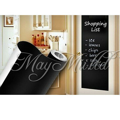 45cm*200cm Blackboard Removable Vinyl Sticker chalkboard Decal Peel S